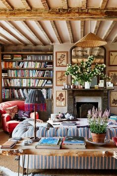 Books aren't the only reason to fall in love with a home library. Fireplaces can add warmth and light to your home and spirits too, especially on long, cold winter nights. Find paradise by a fireside light and inspiration for your library's decor with this round-up of the most eye-catching library fireplaces around.   (143) English Cottage Charm | ZsaZsa Bellagio - Like No Other | Elegant Home | Pinterest (https://www.pinterest.com/pin/147915168990755622/)