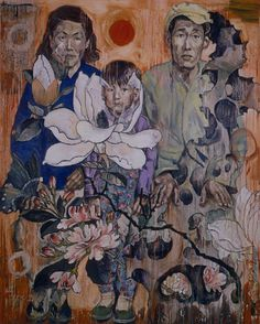 PEOPLE OF THE REVOLUTION, Hung Liu (b1948, Changchun, China; based in California since 1984)