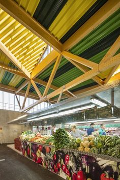 Cachan Covered Market / Croixmariebourdon Architectures © Luc Boegly