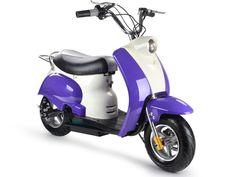 Outdoor Kids Boys Girls MotoTec 24v Electric Battery Moped Scooter Bike Storage #MotoTec