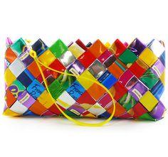 bolso reciclado...con paquetes de mekato...