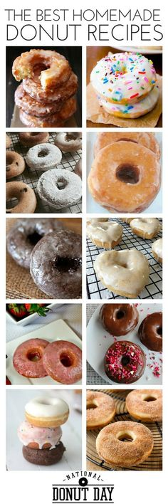 National Donut Day: the Best Make Your Own Donut Recipes | Make it donut day every day with homemade donuts!