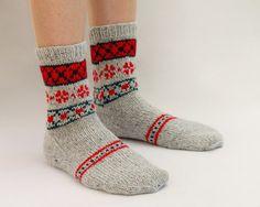 fair isle knit socks