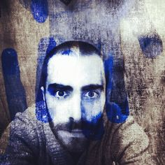 [Touched By The Blue] #experimental #eyes #eyebrows #project #andrography #art #dreams #face #feelings #fingers #head #hairy #hands #lips #conceptual #concept #blue #beard #bearded #blackandwhite #me #multiexposure #moods #rise #surrealism