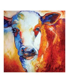 Take a look at this Memo Cow Canvas Wall Art by Evergreen on #zulily today!