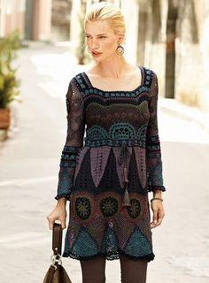 russian crochet dress