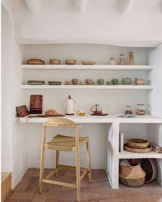 〚 Summer inspiration: sunny Mediterranean villa by Kave Home 〛 ◾ Photos ◾ Ideas ◾ Design #shelves #interiordesign #homedecor #Ideas #inspiration #tips #cozy #living #style #space Bibliotheque Design, Cherry Cabinets, Home Photo, Decoration, Floating Shelves, Bookcase, Sweet Home, Shabby Chic, Interior Design