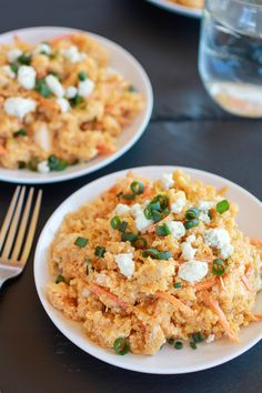Buffalo Chicken Quinoa Salad - looks super yummy and it's Whole Life Challenge (beginner level) friendly! Just minus the cheese