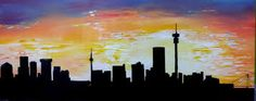 Image result for johannesburg skyline silhouette Johannesburg Skyline, Skyline Silhouette, Wall Paintings, Shadow Puppets, Art Club, Around The Worlds, Symbols, Landscape, Sleeve