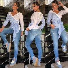 Casual Wear, Casual Outfits, Dress Skirt, Shirt Dress, Fancy Tops, Look Plus, Trendy Fashion, Womens Fashion, Blouse Styles