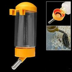 SODIAL(R) Pet Dog Puppy Gerbil Hamster Cage Water Feeder Bottle Yellow >>> Check this awesome product by going to the link at the image. (This is an Amazon affiliate link)