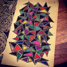 PUZZLE #zentangle #doodle #drawing #moleskine #posca #illustration #sketchbook #sketches #sketching #notebook #colors #artwork #zendoodle #creative #ink #doodling #artstag #design