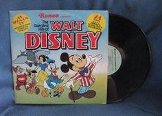 RARE Vintage The Greatest Hits Of Walt Disney by sweetleafvinyl, $16.99