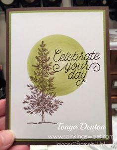 I'm so in love with Lovely As A Tree stamp set! It's so versatile! Fun Crafts, Stampin Up, Christmas Cards, Frame, Sweet, Blog, Fun Diy Crafts, Christmas Greetings Cards, Fun Activities