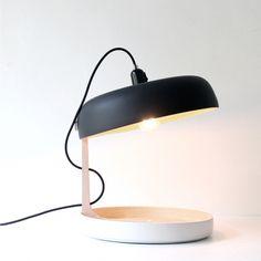 Lampe à poser et vide-poche FRES-CO noir et blanc - Ekobo