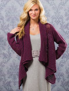 Winter crochet patterns for simple sweaters and cardigans