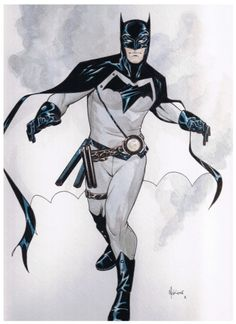 Batman Design by Mike McKone. - Originally set as a commission for a fan, but this soon become probably one of the fresh designs of Batman, in my opinion. Not exactly anything new, but I am tired of seeing these armour clad heroes and unconventional designed that are not practical at all. And this is quite reminiscent to Batman of old.