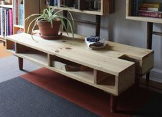Reveal Coffee Table by PineboxDesign on Etsy, $325.00