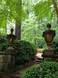 Swan House,  garden urns, Atlanta Georgia.