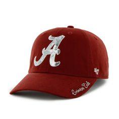 82fb2cafeec Ladies NCAA University of Alabama Crimson Tide Sequined Logo Cap by  47  Brand  47