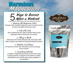 Tip Tuesday: 5 Ways to Recover from your Workout Topical Magnesium, Magnesium Benefits, Spa Sensations, Find My Passion, Magnesium Deficiency, Facebook Party, Relaxing Bath, Jaba, 5 Ways