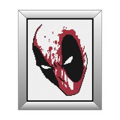 Marvel Cross Stitch Pattern Deadpool by StunningCrossStitch