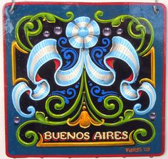 buenos aires by elfeli Painted Letters, Painted Signs, Hand Painted, Sign Writing, Online Art Gallery, Decoupage, Tapestry, America, Deviantart