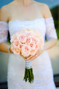 Soft pink wedding bouquet.  eMeM.pl - blog