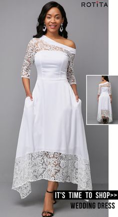 Lace Panel White Three Quarter Sleeve Dress - Lace Panel White Three Quarter Sleeve Dress Source by - Party Dress Sale, Club Party Dresses, Party Dresses For Women, Sexy Dresses, Dresses With Sleeves, Wedding Dresses, African Fashion Dresses, African Lace Dresses, Dress Silhouette