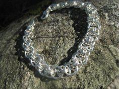 Bracelet: silver wire 2012 Wire, Chain, Diamond, Bracelets, How To Make, Silver, Jewelry, Jewlery, Jewerly