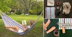 Cómo hacer una práctica hamaca paraguaya para tu jardín o para llevar de camping