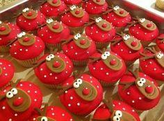 Rendier cupcakes .