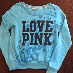 Pink by VS Pull over Sweatshirt Pink by VS Pull over style sweatshirt. Size medium. Like new condition. Worn once. No stains or holes. Super cute and great color. PINK Victoria's Secret Tops Sweatshirts & Hoodies
