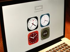 Flat icon set - clocks