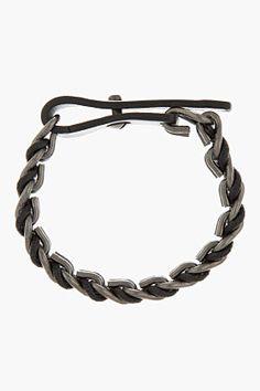 LANVIN Black Chain Bracelet