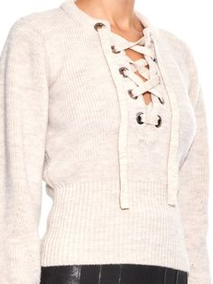 Isabel Marant Charley lace-up wool-blend sweater