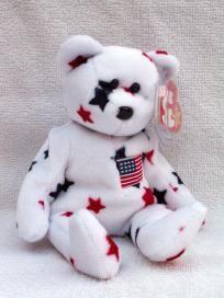 Ty Beanie Baby - Glory the Patriotic Bear - Free Ship Beanie Baby Bears, Beanie Babies, Ty Babies, Babies Stuff, Stuffed Toy, Stuffed Animals, Ty Bears, Patriotic Decorations, Big Eyes