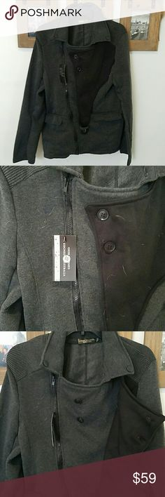 Men's geekhoodies geek Hoodies sweatshirt jacket Size XXL which is like a Chinese Xl or L. Soft and cozy. No flaws save a few pug hairs. New with tags. Brand is geekhoodies. American Apparel Jackets & Coats