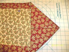 easy table runner... My mom showed me how to make one of these table runners. I'm not very good at quilting but this, I can do! Very easy.
