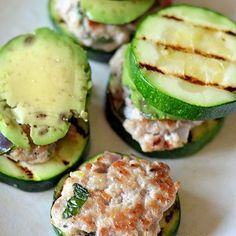Turkey Sliders with Zucchini Buns