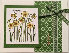 "Sheila's Stamping Stuff: It Is Hard Being Green ~ ""Use Your Stash"" Blog Hop   #ctmh #ctmhcreate #daffodil #H2Hchallenge"