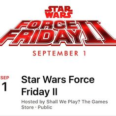 Star Wars Event this Friday Sept 1 from 11am to 9pm. Check out our Facebook event page. #shallweplaylv #tabletopgames #fun #boardgames #starwars #forcefriday #welcome