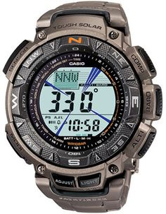 Casio Titanium Solar Triple Sensor Pathfinder - World Time - Compass - Bracelet