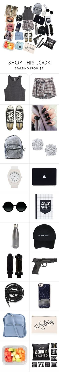 """""""Disease spreading"""" by annaconley ❤ liked on Polyvore featuring H&M, Converse, Effy Jewelry, Nixon, Moscot, S'well, Smith & Wesson, Urbanears, Casetify and Jil Sander Navy"""