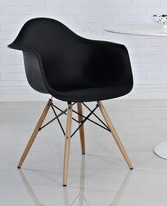 Eames DAW Dining Armchair Replica - Black