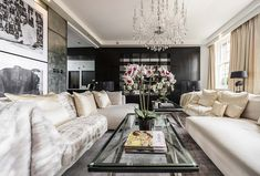 Six years after Alexander McQueen's death, the celebrated designer's London home has been listed for sale. McQueen purchased the Victorian townhouse in 2009 and was in the process of renovating it while staying in a nearby rental property when . Lustre Vintage, Living Area, Living Room Decor, Alexandre Mcqueen, London Mansion, Luxury Penthouse, Penthouse London, Transitional Living Rooms, Decoration