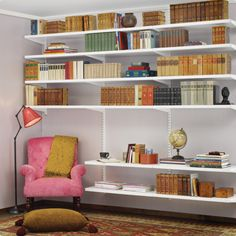 Desks and Home Offices by elfa. If you have been searching for a flexible shelving system check out our elfa Desk and Home Offices. Decor, Home Library, Sweet Home, Elfa Shelving, Shelves, Interior, Shelving, Home Decor, Eclectic Home