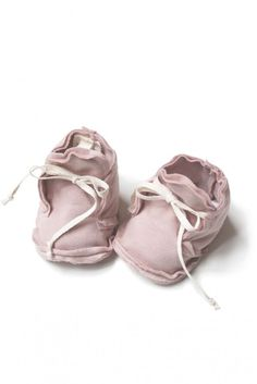 Gray Label Raw Edged Baby Booties organic cotton