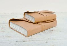 How beautiful are these handmade leather bound journals? #leather #journal