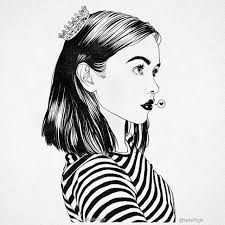 Image result for drawing short hair girl